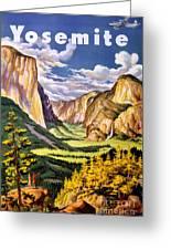Yosemite National Park Vintage Poster Greeting Card
