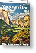 Yosemite Park Vintage Poster Greeting Card
