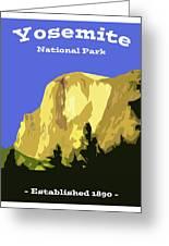 Yosemite Poster Greeting Card