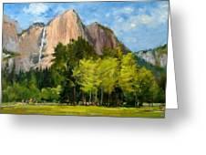 Yosemite - Ribbon Falls Greeting Card