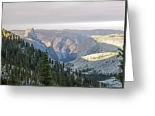 Yosemite Sunrise II Greeting Card
