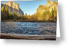 Yosemite Sunset Greeting Card
