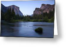 Yosemite Twilight Greeting Card