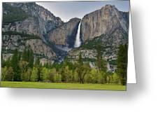 Yosemite Upper And Lower Falls Greeting Card