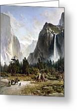 Yosemite Valley, C1860 Greeting Card