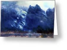 Yosemite Valley Twin Peaks Greeting Card