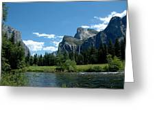 Yosemite Valley View X Greeting Card