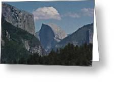 Yosemite View Of El Capitan And Half Dome Greeting Card