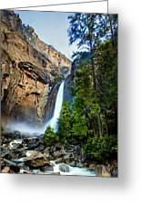 Yosemite Waterfall Greeting Card