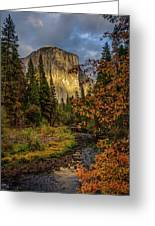 Yosemite's El Capitan In The Fall Greeting Card