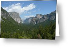 Yosemite's Inspiration Point Greeting Card
