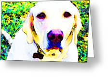 You Are My World - Yellow Lab Art Greeting Card