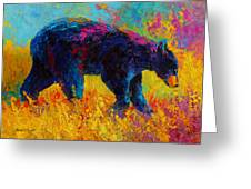 Young And Restless - Black Bear Greeting Card