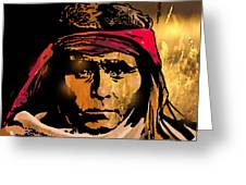 Young Apache Brave Greeting Card