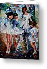 Young Ballerinas Greeting Card