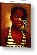 Young Black Female Teen 1 Greeting Card