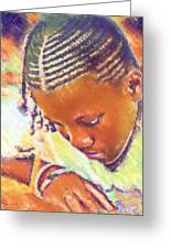 Young Black Female Teen 2 Greeting Card