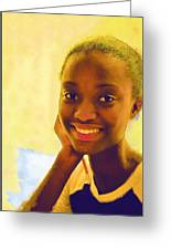 Young Black Female Teen 3 Greeting Card