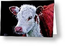 Young Bull Greeting Card