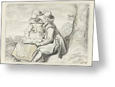 Young Couple Greeting Card