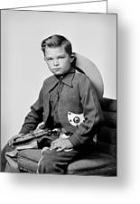 Young Cowboy Sitting Greeting Card