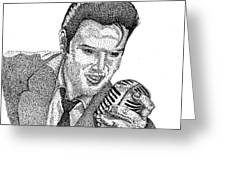 Young Elvis Greeting Card