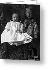 Young Ernest Lawrence And Brother, 1904 Greeting Card