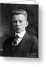 Young Ernest Lawrence Greeting Card