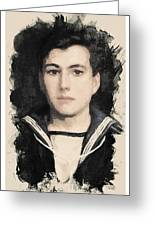 Young Faces From The Past Series By Adam Asar, No 48 Greeting Card