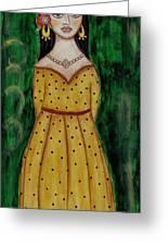 Young Frida Kahlo Series 1 Greeting Card