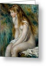 Young Girl Bathing, 1892 Greeting Card