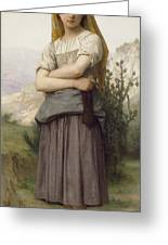 Young Girl, By William-adolphe Bouguereau Greeting Card