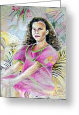 Young Girl From Tahiti Greeting Card