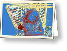 Young Girl With Blue Eyes Greeting Card