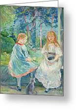 Young Girls At The Window Greeting Card by Berthe Morisot