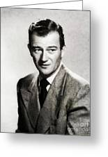 Young John Wayne, Hollywood Legend Greeting Card