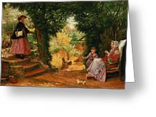 Young Lady Bountiful Greeting Card