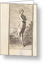 Young Man Bareheaded, With Sword Greeting Card