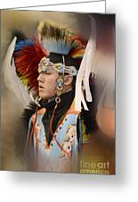 Pow Wow Young Man Greeting Card