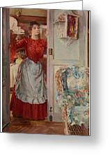 Young Man On A Door French Room, Emilio Greeting Card