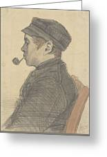 Young Man With A Pipe Nuenen, March 1884 Vincent Van Gogh 1853 - 1890 Greeting Card
