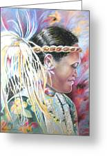 Young Polynesian Mama Greeting Card