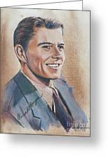 Young Ronald Reagan Greeting Card