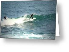 Young Surfers Four Greeting Card