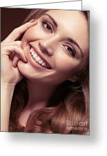 Young Woman With A Natural Smile Greeting Card