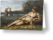 Young Women Of Sparta By Jean-baptiste-camille Corot, 1868-1870. Greeting Card