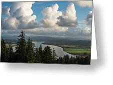 Youngs Bay And Clouds Greeting Card
