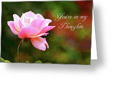 Your In My Thoughts Painting Greeting Card
