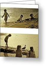 Youth At The Water Greeting Card