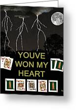 Youve Won My Heart  Poker Cards Greeting Card
